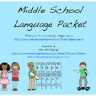 Middle School Language Packet
