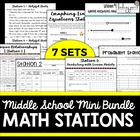 Middle School Math Stations Bundle