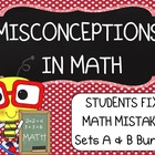 Middle School Math ~ Students Fix Math Mistakes/Errors  Bundle