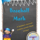 Middle School Math Word Problem and Game Baseball Review