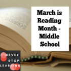Middle School Reading Packet for March is Reading Month