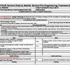 Middle School STEM Pre-Engineering Course Framework
