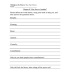 Midnight on the Moon Worksheets (Magic Tree House #8)