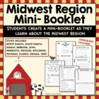 Midwest Region Activity Booklet Worksheets for Social Stud