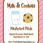 Milk and Cookies Flashcard Freebie