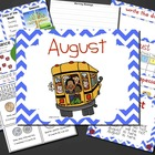 Mimio August Calendar Morning Meeting