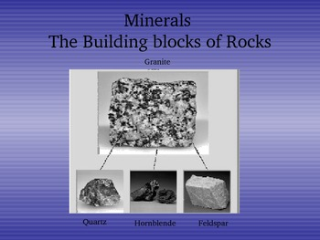 Minerals PowerPoint notes with guided notes