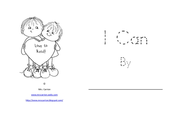 Mini-Book: I Can