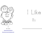 Mini-Book: I Like