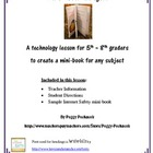 Mini-Book Technology Project - Middle School