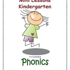 Mini Lessons - Phonics - Kindergarten