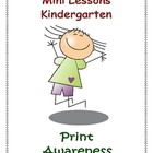 Mini Lessons - Print Awareness - Kindergarten