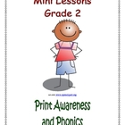 Mini Lessons - Print Awareness and Phonics - Grade 2