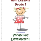 Mini Lessons - Vocabulary Development - Grade 1