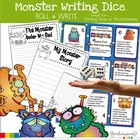 Mini Monster Writing Starters, Writing Templates and Rubric