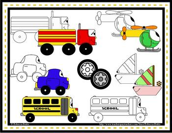 Mini Movers Vehicle Themed Clip Art