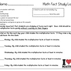Mini Multiplication Flashcards