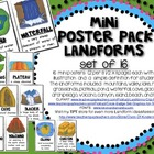 Mini Poster Pack with Definitions: LANDFORMS (Set of 16) S