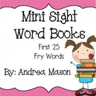 Mini Sight Word Books - Fry Words 1-25
