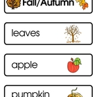 Mini Word Book-Fall Words