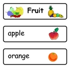Mini Word Book-Fruit Words