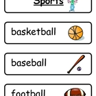 Mini Word Book - Sport Words