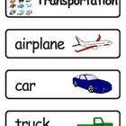 Mini Word Book-Transportation Words