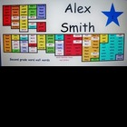 Mini word wall desk name tags