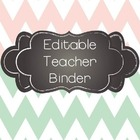 Mint and Blush Ultimate and Editable Teacher Binder for 20