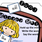 Mirror Me! Sight Word Mirror Activity Aligned to Kindergar