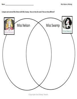 Miss Nelson Is Missing {Sub Plans}