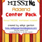 Missing Addend Center Pack & Bonus Worksheet! Common Core 1.OA.8