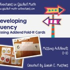 Missing Addend Fold-Its -- 0 to 10 -- Math Center Cards