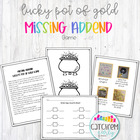 Missing Addend Game &quot;Lucky&#039;s Pot of Gold&quot;