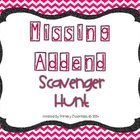 Missing Addend Scavenger Hunt