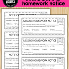 Missing Homework Notice (English and Spanish Versions)