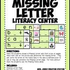 Missing Letter/Word Literacy Center