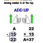 Missing Number Strategies Posters
