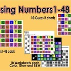 Missing Numbers 1-48 activity & Worksheets