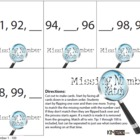 Missing Numbers Memory Match Card Game