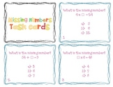 Missing Numbers Task Cards