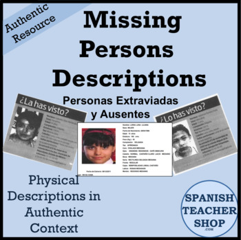 Missing Persons Description