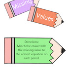 Missing Values Game- Common Core Aligned