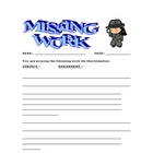 Missing Work Report
