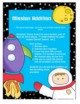 Mission Addition Math Game