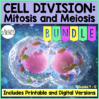 Mitosis and Meiosis Complete Unit Plan - 16 products included