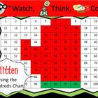 Mitten Hundreds Chart Fun - Watch, Think, Color Game!