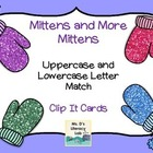 Mittens and More Mittens Alphabet Match- Uppercase and Low