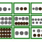 Mix & Match Game Cards {Counting Coins}