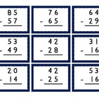 Mix & Match Game Cards {Subtraction with Regrouping}